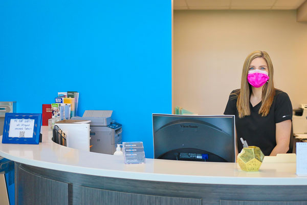 Front desk at Singing River Dentistry.